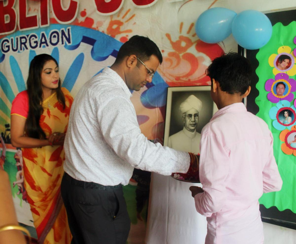 Teacher's day celebration in school