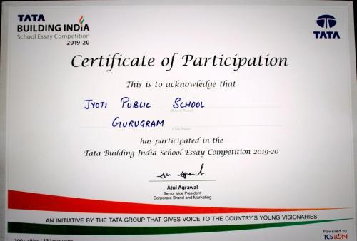 Tata Building India School Essay Competition 0