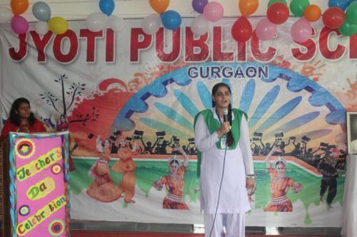 Teacher's day celebration in school 14