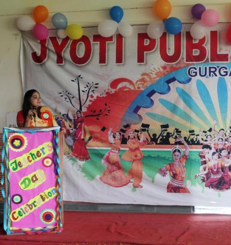 Teacher's day celebration in school 18